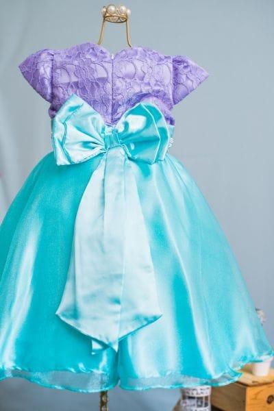 Vestido Ariel Pequena Sereia Luxo