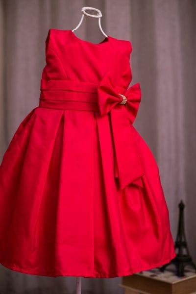 Vestido Vermelho Infantil Para Festa
