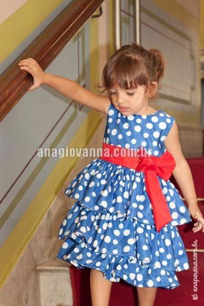 Vestido Galinha Pintadinha com Babados