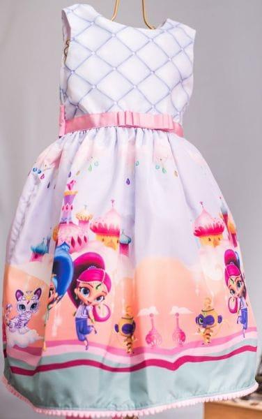 Vestido Infantil Shimmer e Shine