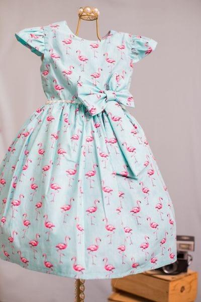 Vestido Infantil Flamingo