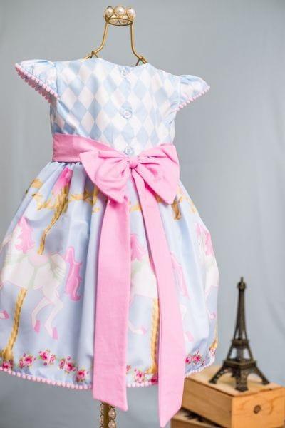 Vestido Infantil Carrossel Encantado