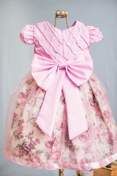 Vestido de Formatura Infantil Rosa