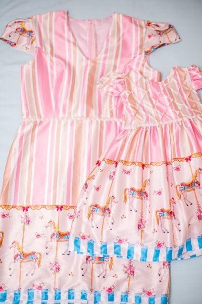 Vestidos Mãe e Filha Carrossel Encantado