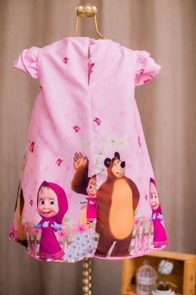 Vestido da Masha e o Urso para aniversário