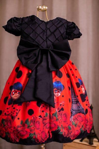 Vestido Ladybug Luxo Bordado