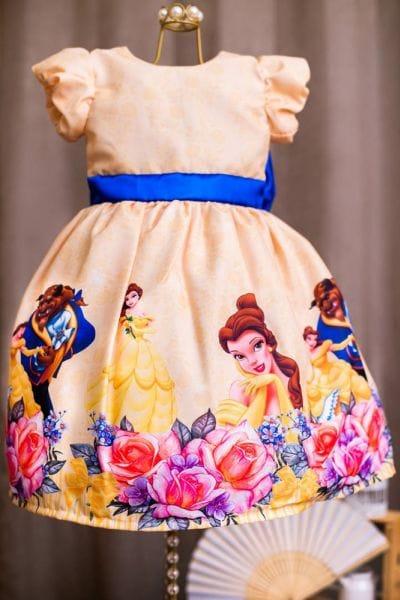 Vestido da Bela e a Fera Luxo