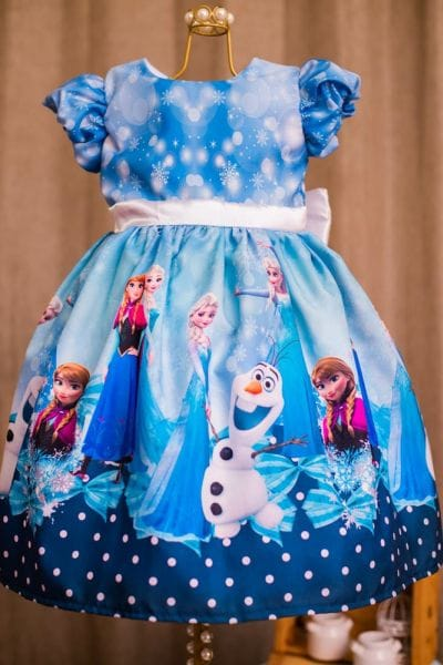 Vestido Aniversário Frozen
