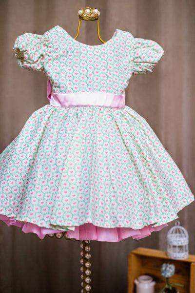 Vestido Infantil Corações