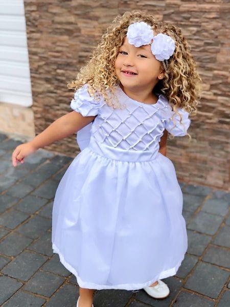 Vestido de Festa Infantil Branco