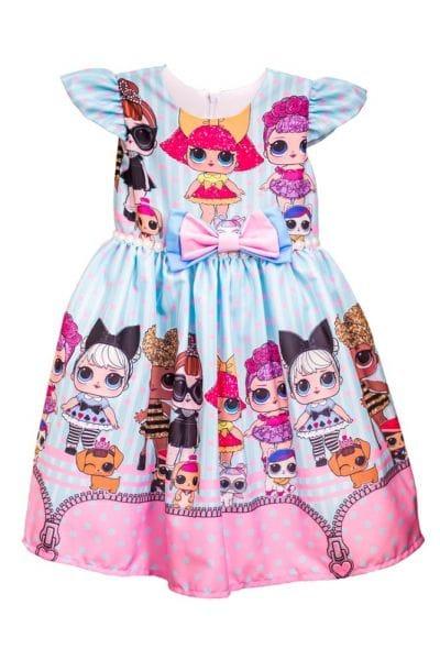 Vestido Boneca Lol