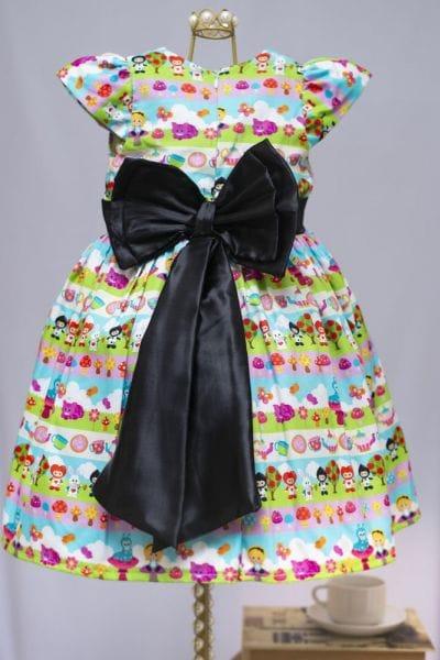 Vestido De Festa Infantil Alice No País Das Maravilhas