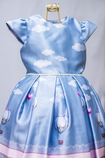 Vestido Infantil de Festa Balão