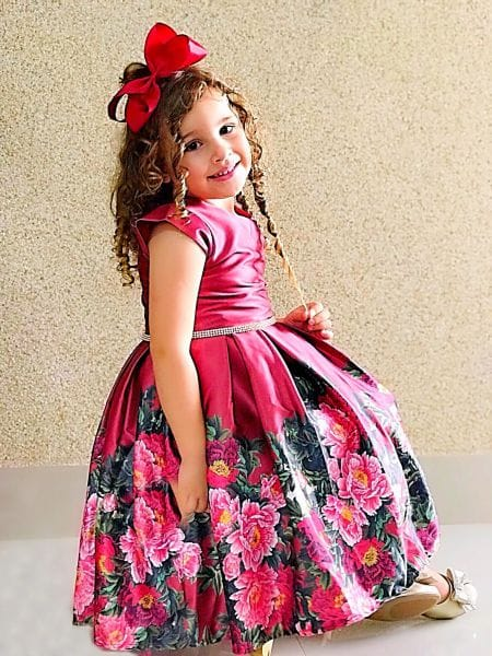 Vestido Infantil de Festa Marsala