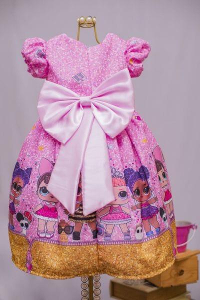 Vestido com Estampa da Boneca Lol
