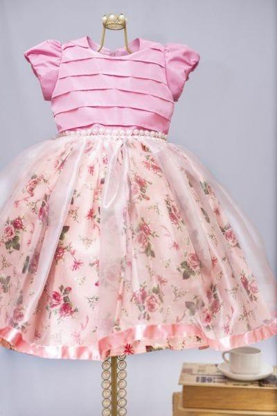Vestido de Princesa Infantil para Aniversario