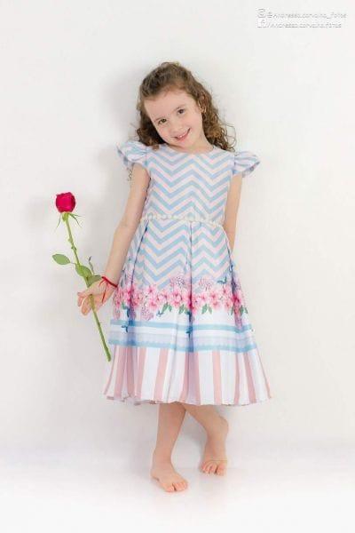 Vestido de Festa Infantil Chevron