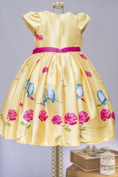 Vestido Amarelo Infantil