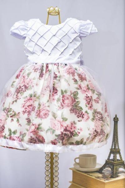 Vestido de Princesa Infantil Floral