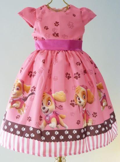 Vestido Skye Patrulha Canina