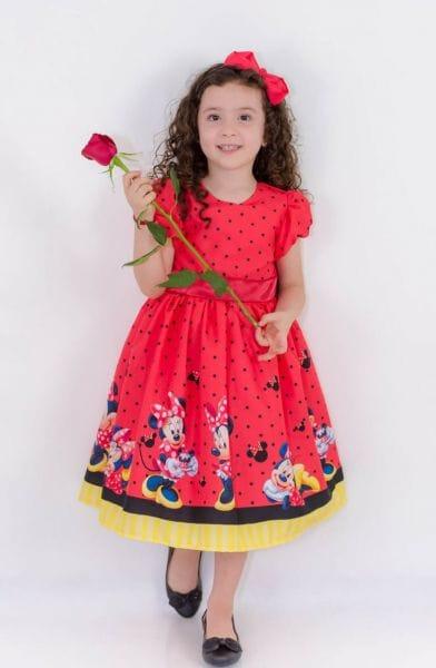 Vestido Infantil da Minnie