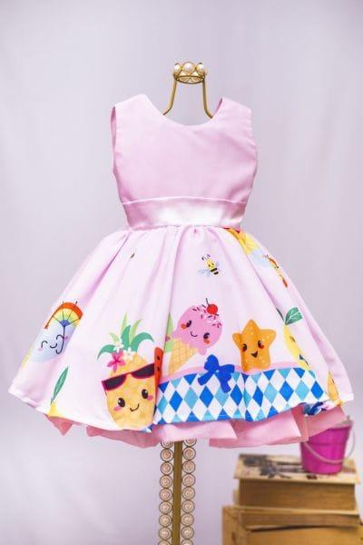 Vestido Infantil Festa Tropical