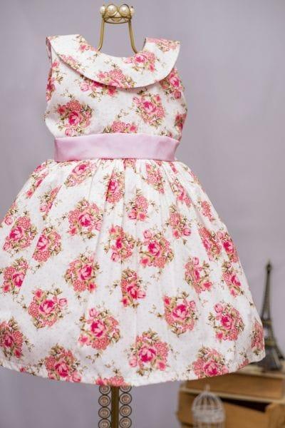 Vestido Infantil Floral Jardim
