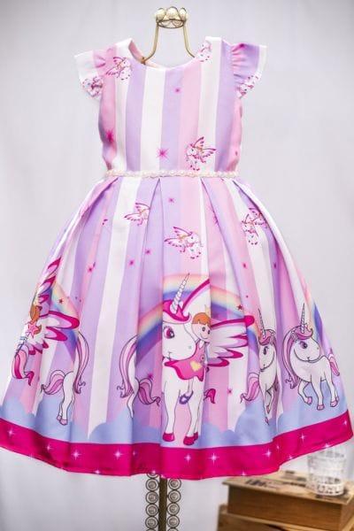Vestido do Unicornio Infantil