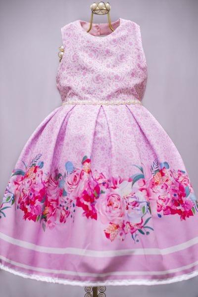 Vestido Floral Infantil Princesa