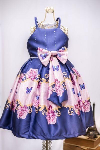 Vestido Infantil de Borboleta