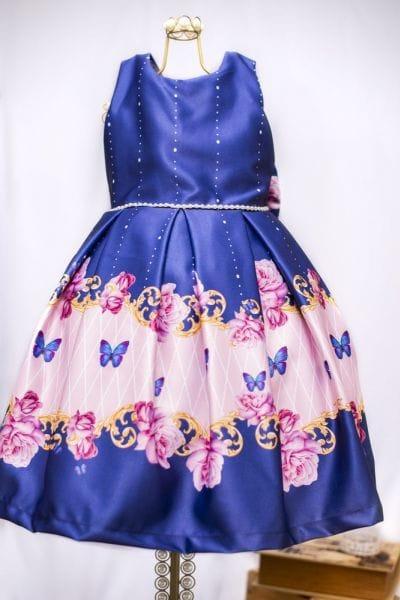 Vestido Infantil Estampa Borboleta