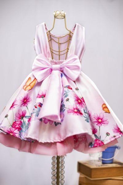 Vestido de Festa Infantil Tema Jardim Encantado