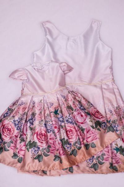 Vestido de Festa Infantil Mae e Filha