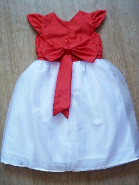 Vestido Vermelho e Branco Infantil