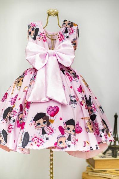 Vestido Infantil Minis Bonecas Lol Surprise