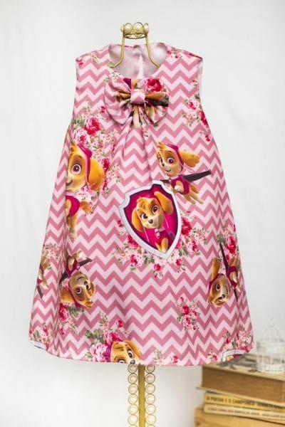 Vestido Infantil da Skye da Patrulha Canina