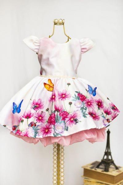 Vestido de Festa Infantil Tema Jardim