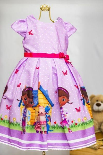 Vestido Infantil Doutora Brinquedos