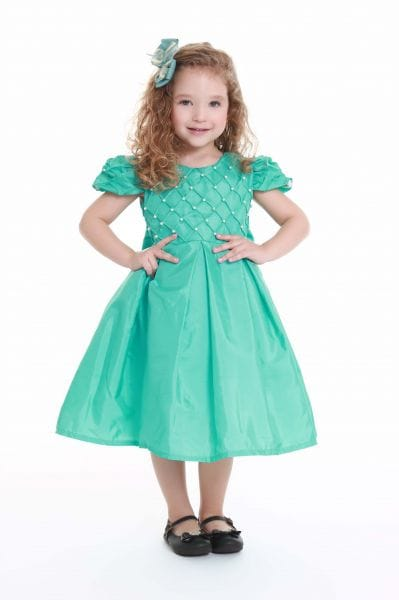 Vestido infantil Verde Tiffany