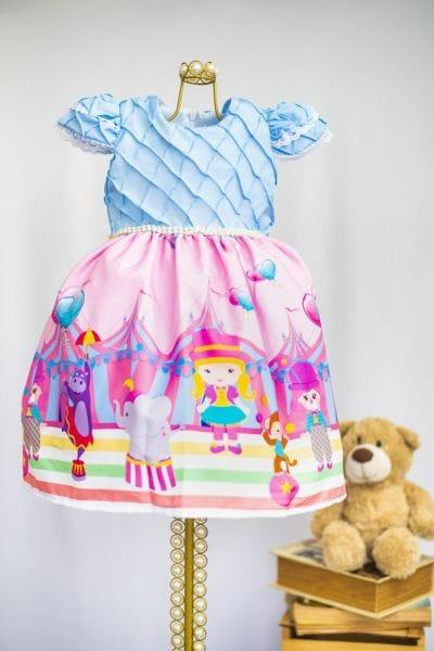 Vestido Luxo Circo Rosa