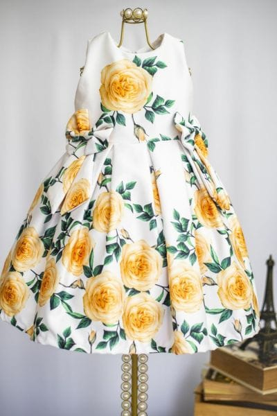 Vestido Amarelo Festa Infantil