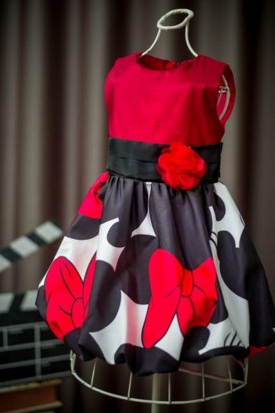 Vestido Minnie Vermelho Luxo