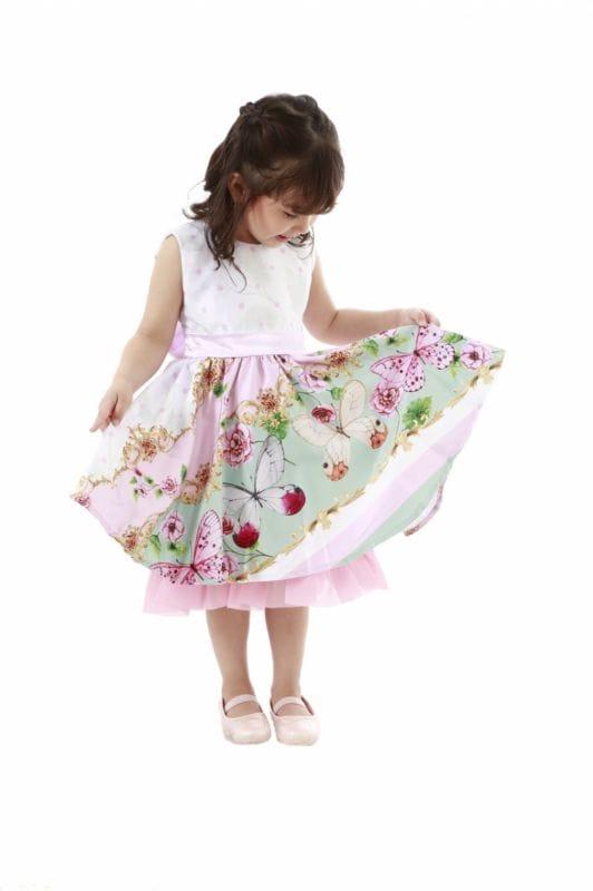 Vestido de festa Infantil com Borboletas