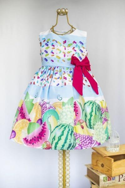 Vestido Infantil Frutas