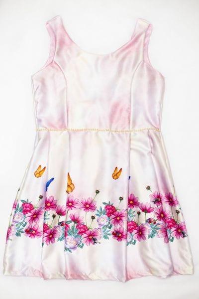 Vestido Adulto 2 Alças Luxo Floral