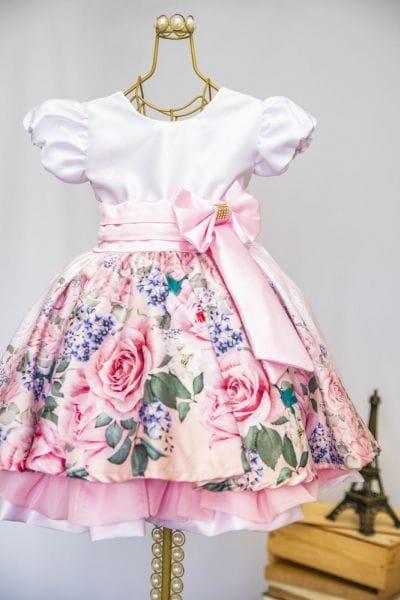 Vestido Infantil Estampado Para Festa