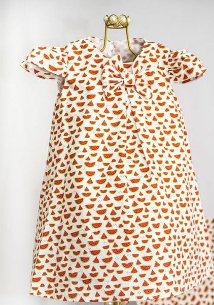 Vestido Infantil Com Estampa de Melancia