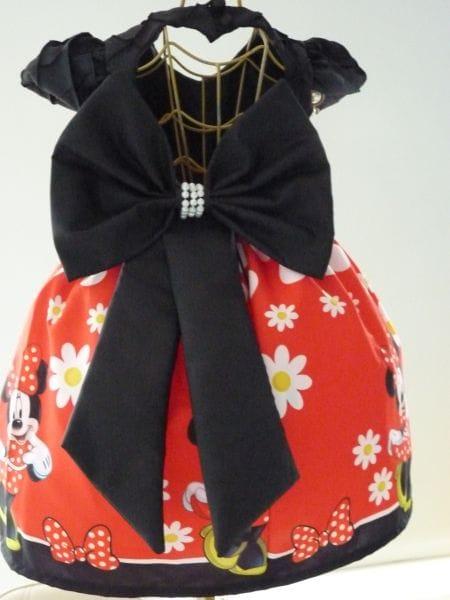 Vestido da Minnie Vermelha Para 1 ano