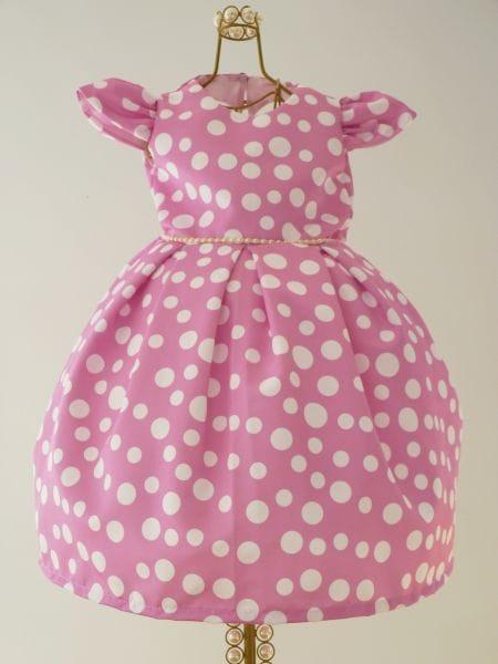 Vestido da Minnie Rosa 1 ano