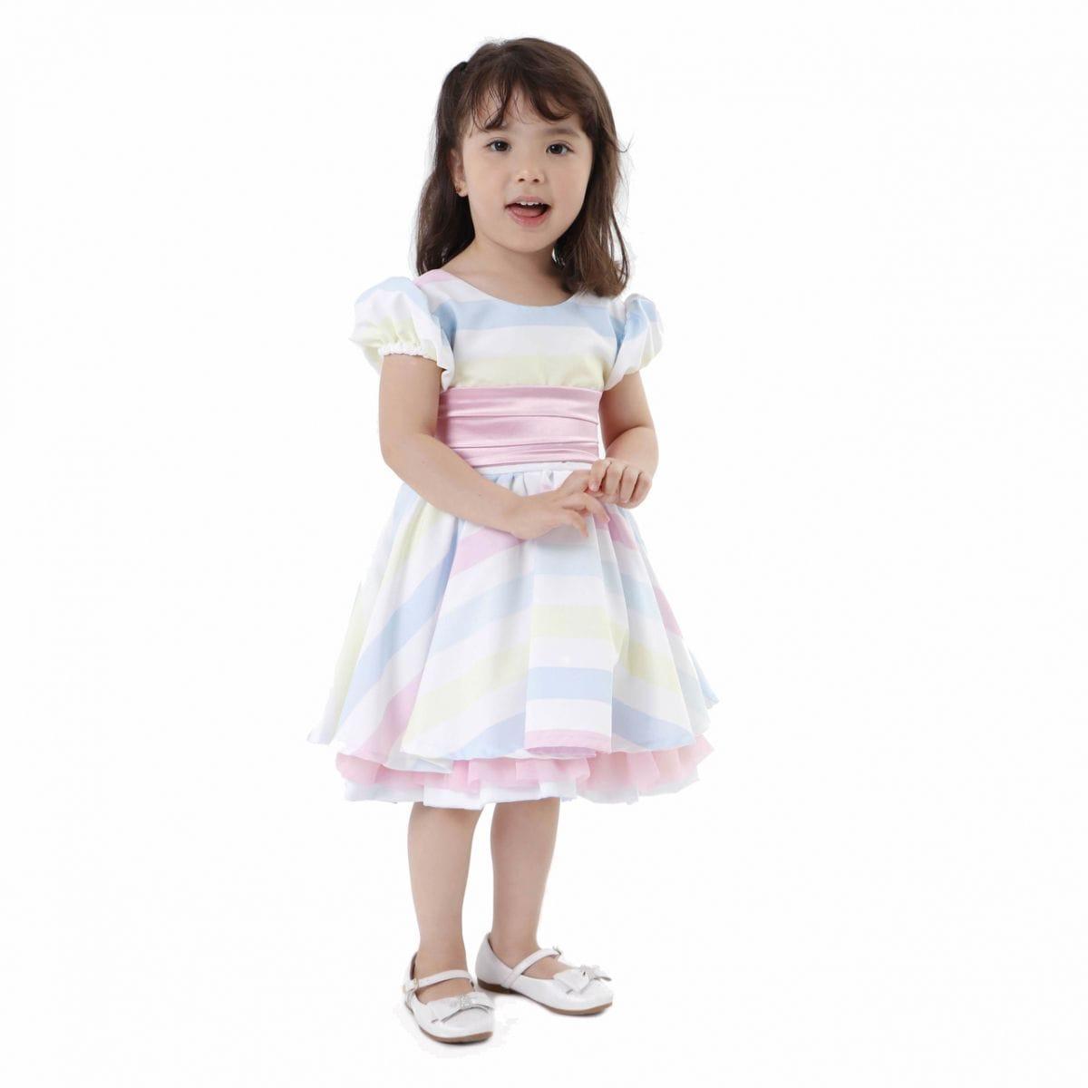 Vestido de Festa Infantil Arco Iris